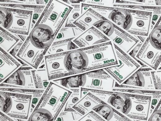 Доллары - пленка для аквапечати (шир. 50см)