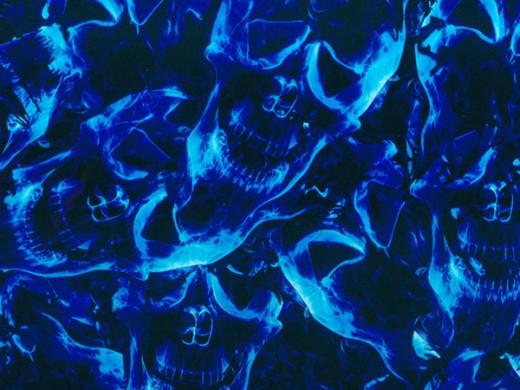 Мистик синий - пленка для аквапринта (шир. 100см)