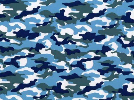 Камуфляж Омон сине-голубой - пленка для аквапринта (шир. 50см)